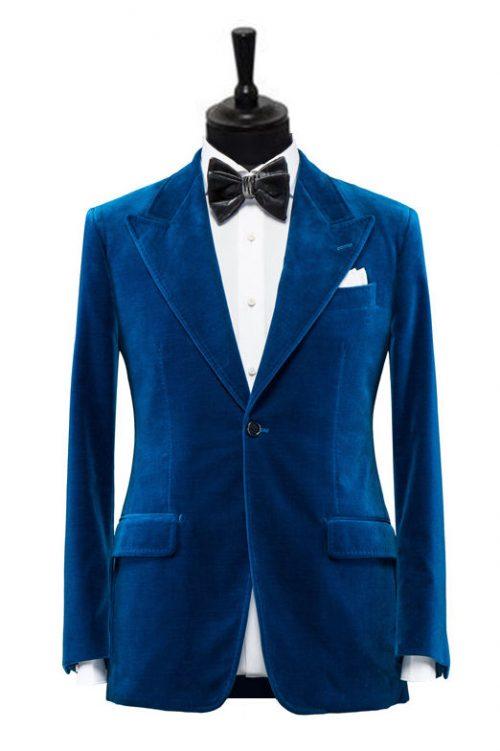 smoking catifea albastru gentlemenstailoring copy