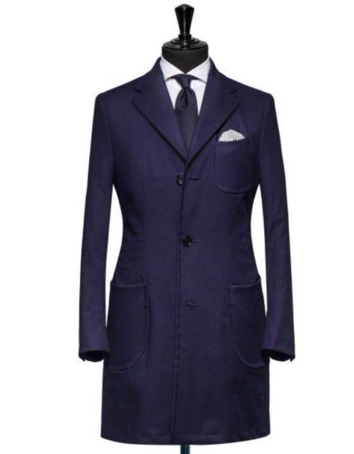 Palton albastru inchis