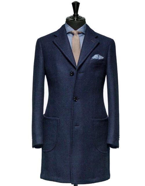 palton albastru model