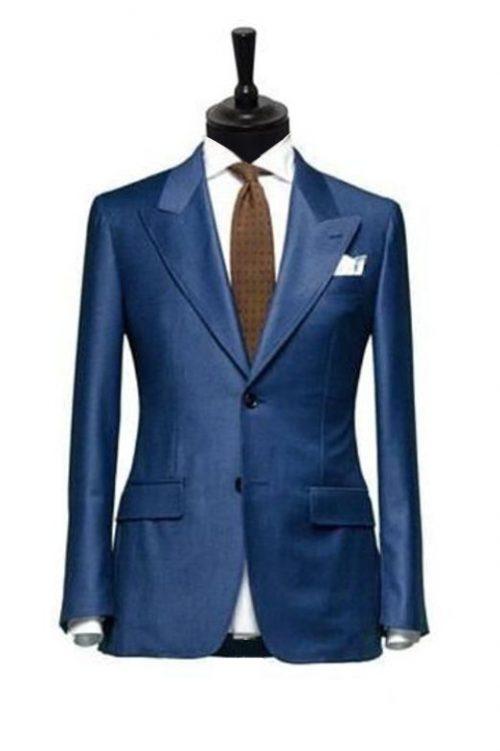 costum albastru